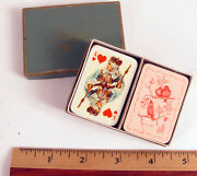 Vintage Playing Cards Spielkarten Patience Miniature Travel Set Germany Rare
