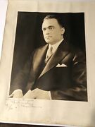 Historical Picture And Autograph Of J. Edgar Hoover Dated 1937