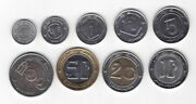 Algeria 9 Dif Unc Coins Set 1/4 - 100 Dinars 1992-2010 Years Bimetal Eagle Lion
