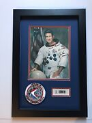 Rare Jim Irwin Signed Wss With Nasa Beta Cloth Name Tag And Lion Brothers Patch