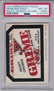 1974 Topps Wacky Packages Grime Dog Chow Psa 8 Mc Nm/mt Series 7 Packs Heavy