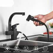 Kitchen Faucets Dual Spout Pull Out Kitchen Tap With Spray Water Taps Hotandcold