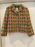 Moschino Cheap And Chic Wool Jacket Apples Pink Green