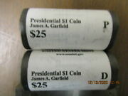 2011 Us Mint James Garfield P And D Presidential Dollars Roll Set Not Bank Rolls