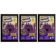 Kinetic Sand 8 Oz. Each Neon Purple Spin Master Toys Lot Of 3 - New Sealed