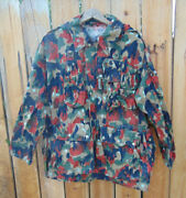 Swiss Alpenflage M70 Camo Size 56/xl Hooded Parkavery Good Used Cd.free Ship