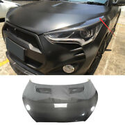 Fit For Hyundai Veloster 2011-2016 Hood Vented Cover Cap Refit Real Carbon Fiber