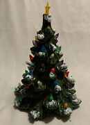 Ceramic Christmas Vintage Tree Lights Light Up With Tea Light Or Candle