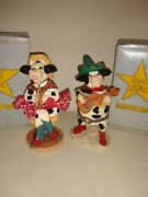 Farm Kitchen Vintage Decor Figurine Home On The Range, Cows Lot Of 2, By Russ