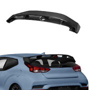 Fit For 2019-2021 Hyundai Veloster Rear Boot Spoiler Wing Flap Real Carbon Fiber