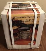 Vtg Nib Victorian Cast Iron Ornate Christmas Tree Trunk Stand Support Itm.269601