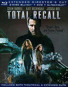 Brand New Total Recall Extended Director's Cut 2 Disc Blu-ray+dvd 2012