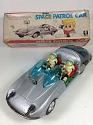 Tinplate Toy Space Patrol Mystery Action Bandai Electric Driving From Japan