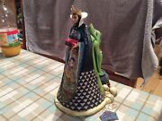 """V Rare Disney Tradition Double Sided 'evil Queen/hag-wicked' 11.5"""" Snow White"""
