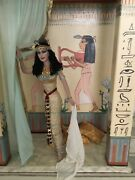 Exceptional Swedish Art Doll Ooak Cleopatra At Home Painted Home Display