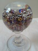 Antique Millville Paperweight Mantel Ornament Spattered Glass Controlled Bubbles