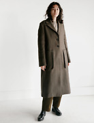 Studio Nicholson Ounce Double Faced Wool Coat In Forest Green - Size 1