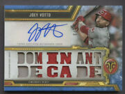 Joey Votto Lot 2020 Toppstriple Threads Relic Patchand2020 Dimonds Icons Andsterling