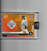2020 Topps Now Clayton Kershaw 2020 Ws Game 1 Used Relic And039d 1/5 Dodgers 450b