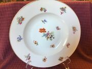 Antique Eamag Bavaria Porcelain Coupe 9-1/2 Bowl Floral Poppy Germany 1930and039s