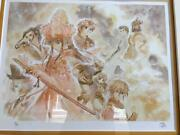 Sakura Wars Lithograph Art Illustration Picture Autograph From Japan