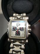 Minute Machine Grey Dial Time Tank Gmt Mm Doubletap Hollowpoint