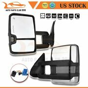 For 03-07 Chevy Gmc Mirrors Pair Power Signal Heated Chrome Towing Mirrors