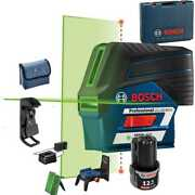 Bosch Gcl100-80cg 12v Max Connected Green-beam Cross-line Laser W/ Plumb New