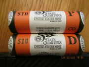 Us Mint R50 2006 Pandd State Quarters Colorado Co Rolls Roll Not Bank Rolls