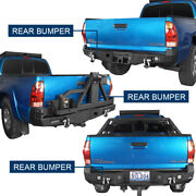 Powder Coated Steel Rear Back Bumper Cover For 2nd Gen Toyota Tacoma 2005-2015