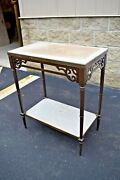 Nice Older Antique Credence Table Offertory Table Cu500 Chalice Co.