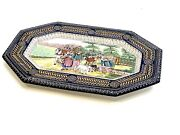 Vintage Large Amazing Plater French Faience Hb Quimper Circa 1920sand039 21.5andrdquo Si