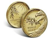 End Of World War Ii 75th Anniversary 24-karat Gold Coin Still Sealed And In Hand