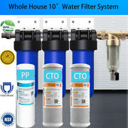 3 Stage 4.5 X 10 Big Water Filter System For Whole House Water Softner System