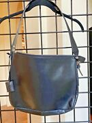 Black Leather Bally Shoulder Purse With Lock Charm