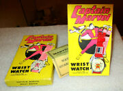 Captain Marvel Watch 1948 Fawcett Pub. Inc. Brand New Box Price And Book