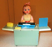 Miss Friday The Typist 1950's Nomura Japan Battery Powered Toy  New In Box