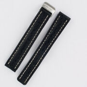 Breitling Black Shark Skin Strap With Stainless Steel Deployant Buckle 15x14