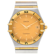 Omega Constellation 59469775 Stainless Steel Gold Dial 33mm Quartz Watch