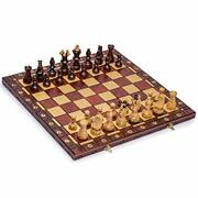 Large Wooden Chess 21.7 Inc Full Set Vintage Game Gifts Hand Carved Board Pieces