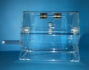 Small Clear Acrylic Tombola / Raffle Drum Size - 10 X 10 X 11.5 Inches