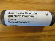 Us Mint 2012 S Atb Quarters Acadia Maine Me Roll Not Bank Roll Pl5