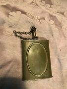 Vintage Wwii Military Gun Oiler Metal Flask Oil Can Screw Spout And Cap
