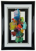 John Hyde Vintage Abstract Modern Expressionist Gouache Watercolor Painting 43