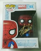 Stan Lee Signed With Sketch Spiderman Funko Pop Super Rare