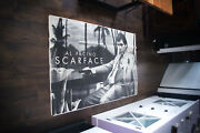 Scarface Rare Black White 4x6 Ft Vintage French Movie Poster Original 1983 Used