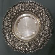 Beautiful Antique Middle Eastern 84 Silver Footed Dish Tray