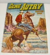 Gene Autry Western Cowboy Character Large Coloring Book 1951 Whitman