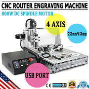 4 Axis Engraver Usb Cnc6040z Router 3d Cutter Engraving Drilling Milling Machine