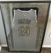 Lebron James Autographed Signed Framed Matted Camo Limited Jersey